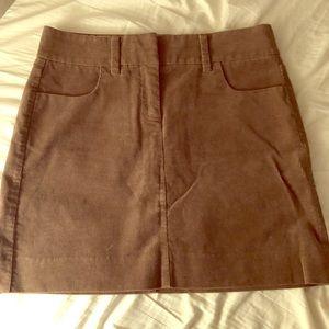 JCrew stretch corduroy mini skirt. Never worn. 2.